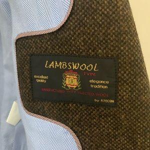 Zara Jackets & Coats - Zara Lambs Wool Tweed Blazer with Elbow Patches